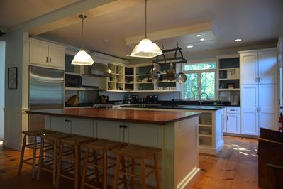 Lodge fully equipped kitchen.