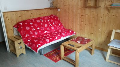 Photo for Charming studio in a cabin close to the slopes and the shops
