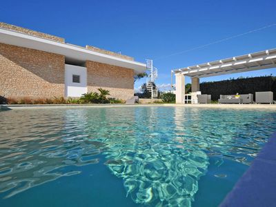 Photo for APULIA LUXURY VILLA WITH SWIMMING POOL, FACING THE SEA, 4 BEDROOMS