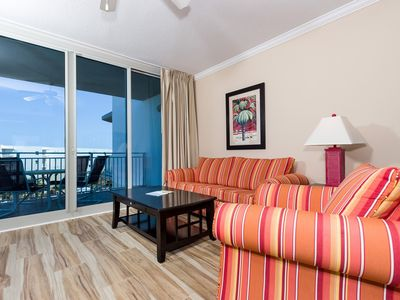 Photo for Bright, welcoming condo on Okaloosa Island! Washer/dryer in-unit! Waterfall + lazy river on-site!