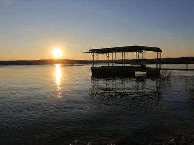 Photo for Main body Lake Travis luxurious lake front home, walk to water