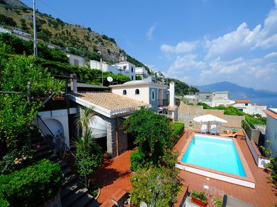 Photo for Beautiful house with swimming pool and parking just 4 km from Amalfi