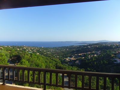 Photo for T3 sea view gulf of Saint-Tropez, residence Bellevue Les Issambres
