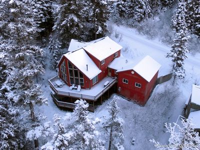 Aerial view of Girdwood Valley Guest House