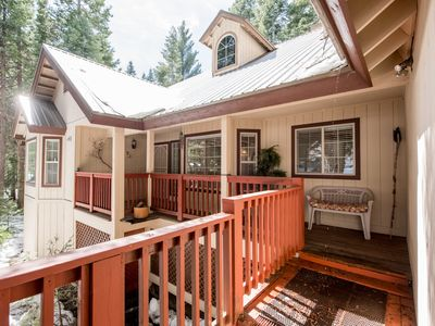 Photo for Home surrounded by nature w/ private decks, nearby tennis, game room, and more!