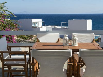 Photo for Zeus home with sea view, 50m from the Logaras sandy beach