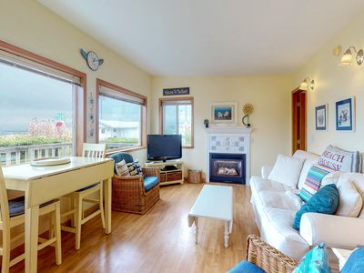 Photo for Gorgeous dog-friendly cottage one block to the beach