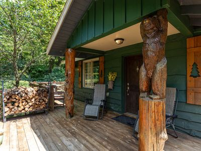 Photo for Bear Bungalow - 1 mi. from Main Street Blowing Rock! Hot Tub - Pet Friendly - Fenced In Yard