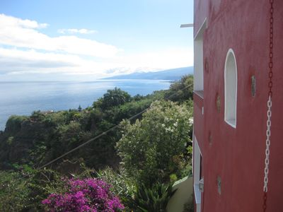 Photo for Rustic 150 year old farmhouse in a ravine of unspoilt sea views 150sqm