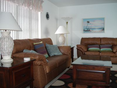 Family room leather seating