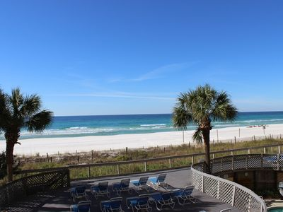 Photo for Beautiful Beachfront View at Edgewater...1BD/1BA 1ST FLOOR FREE WI-FI