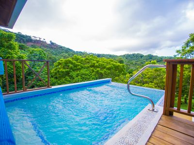 Photo for Hillside ocean and nature view w/Pool in Tranquil Central Roatan – A True Island gem
