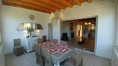 Photo for Detached villa 100m2 with all comfort 900m2 beach and center 900 meters