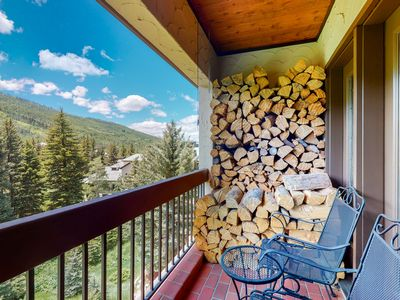 Photo for Mountain getaway w/ wood-burning fireplace/shared pool & hot tub - near lifts!