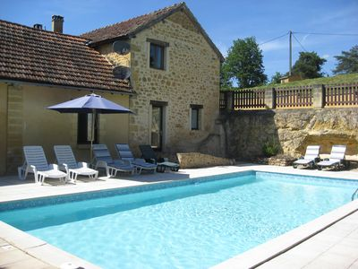 Shared pool the for 4 gites