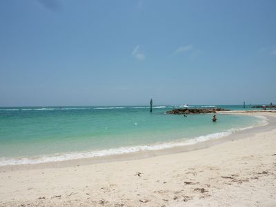 Sit and relax or take a walk on Fort Zachary's beautiful beach.
