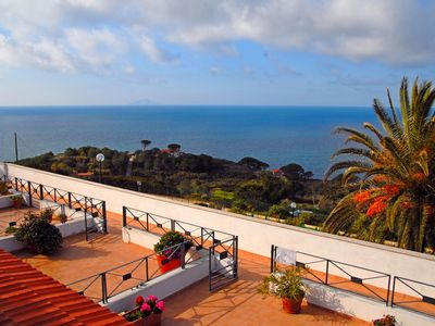 Photo for Apartment for 4, Elba, Sea View, A/C, 850 Meter from Beach