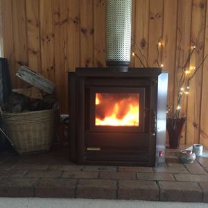 Cosy wood fire for those chilly evenings or just time to relax!