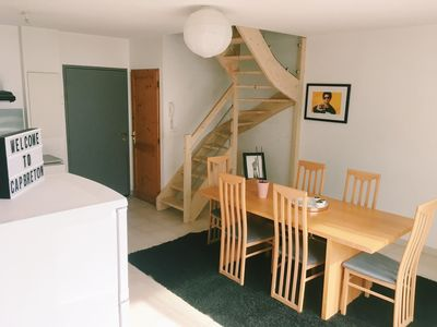 Photo for Peaceful duplex apartment next to the ocean with a double car park