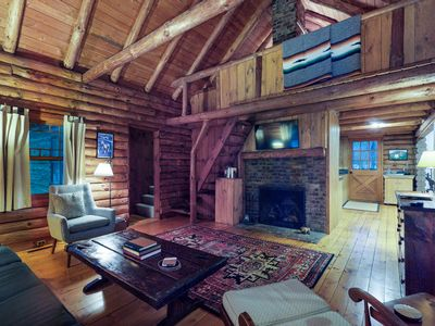 Photo for Dog-friendly cabin w/ gas fireplace - close to skiing, shopping, and restaurants