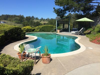 Photo for THE BIRDHOUSE - Pool. Hot Tub. Stunning Wine Country Views. Private Deck.
