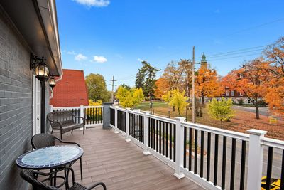 Incredible patio to take in the sights of the city, enjoy your coffee, and even grill!