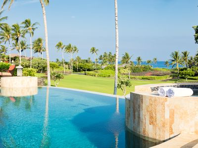 Photo for Spacious Ocean View Home.  Steps From White Sand Beach.  Pool & Home Theater.