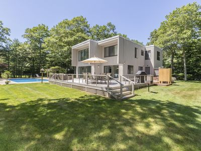 Photo for Luxury four-bedroom contemporary villa in the village of Quogue in the Hamptons