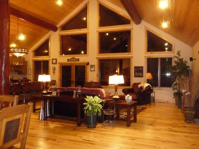 Photo for Secluded And Spacious Log Accent Home