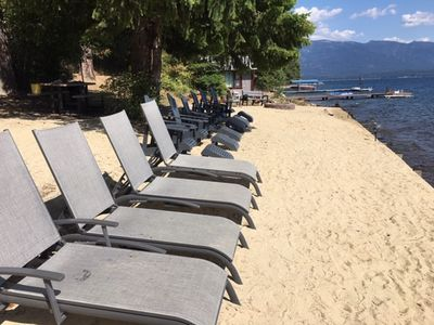 Photo for 200 feet of private beach frontage on Lake Pend Oreille, with incredible views!