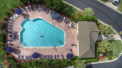 Overhead of the Tanglewood Private Pool
