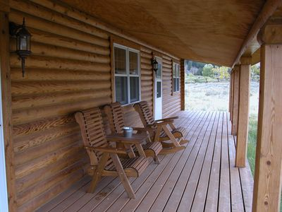 deck on north side of cabin