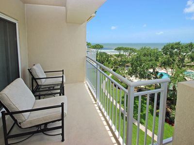 Photo for Waterfront condo w/ ocean views, shared pool, hot tub, & covered balcony