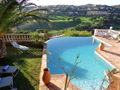 Photo for Sainte Maxime. Beautiful villa with pool and open views of the golf greens