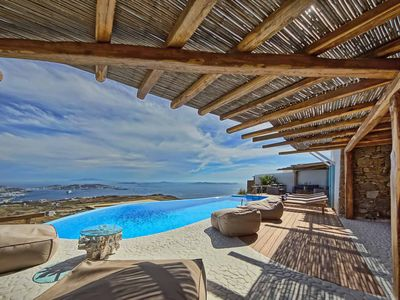 Photo for BlueVillas | Villa Urania |Unwind infinity pool,gorgeous view,tennis court & gym