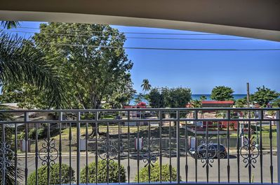 The vacation rental condo is across the street from the beach!