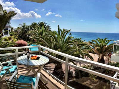 Photo for Front line beach apartment with sea views