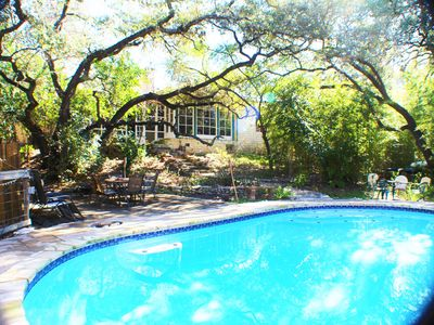 Photo for RARE SECLUDED 1940s ESTATE-CENTRAL AUSTIN GETAWAY HOME