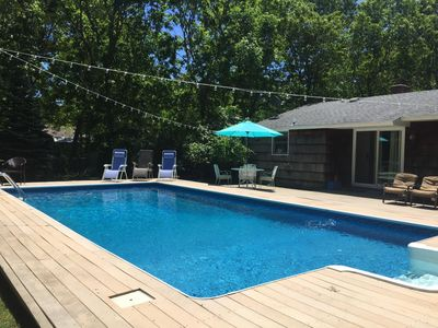Photo for Ultimate Hamptons Getaway! Private Pool, Close to Ocean, Shopping, and Wineries!