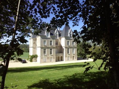Photo for Beautiful 19th century castle at 20 minutes from Futuroscope with swimming pool