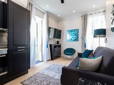 Photo for STYLISH, 2 BALCONIES, NEWLY RENOVATED ON RUE ROSSETTI OLD TOWN 2BR/2BA