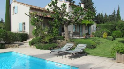 Photo for Nice house with beautiful garden and private pool close to the village center