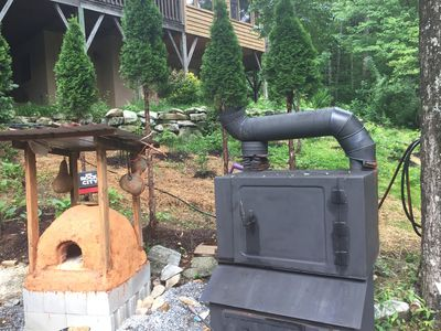 Outdoor smoker and oven. Owner can help smoke, grill, or roast your meat.