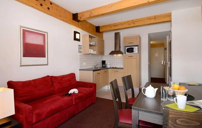 Photo for Wifi, 50m from resort center, fitness, parking, tv, ski locker, 60m², La Plagne