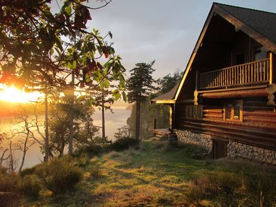 Photo for InTheBluff - Galiano's Oceanside Log House