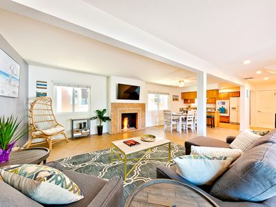 Photo for 10% OFF AUG - Gorgeous Beach Home, 1 Min Walk to Ocean, Shops + Dining