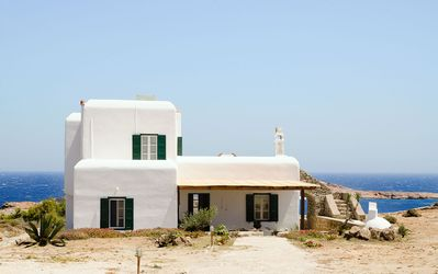 Photo for Traditional House on Agios Sostis Beach - Sea view & access to the beach