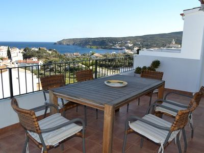 Photo for 101.64_Three bedrooms apartment with parking place and terrace with sea views