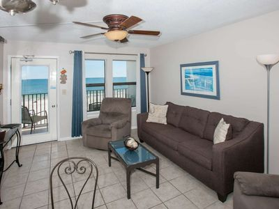 Photo for Gulf-View Condo, 2BR/2BA, Slps 8, Balcony, WiFi, W/D, Pool, Free Activities - Island Sunrise 364