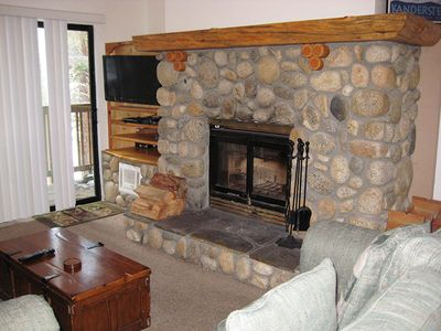 Fireplace and Flat Screen TV
